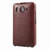 Quality Real Leather Smartphone Case, Suitable for HTC Desire HD (G10) for sale