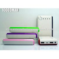 Quality Colorful Fast Charging 13000mAh Double USB Power Bank For MP3 / MP4 / PC for sale
