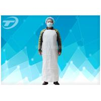 Quality Plastic Coated Aprons Waterproof  43 Gsm / Disposable White Coats for sale