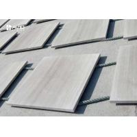 Quality Polished Wood Vein Marble Stone Tile For Interior Wall Cladding Customized Size for sale
