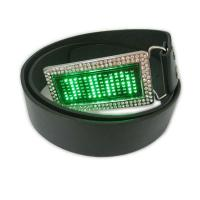 Quality Scrolling message display led belt buckle for sale