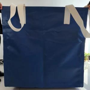 Square Waterproof Recycled Jumbo Bag Flat Bottom / Side Discharge Design 500kg - 1500kg