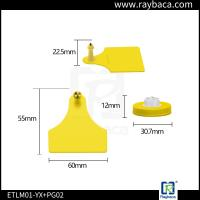 Quality RBC-ETPLM01 Livestock Ear Tags Visual Big Size Lightweight Electronic ID For Animals for sale