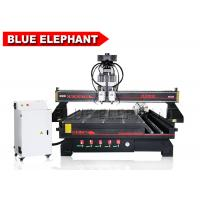 Quality Pneumatic System 4 Axis Multi - Head CNC Router Double Spindle with Routary Device for sale