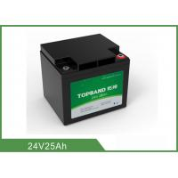 Quality 24V 25Ah Medical Device Battery , Medical Cart Battery Deep Cycle for sale