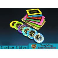 Quality Anti - Counterfeiting RFID Casino Chips / Crystal Poker Chips Round Shape for sale
