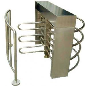 Buy cheap Pedestrian Half Height Turnstiles , Custom Size Retractable Barrier Gate from Wholesalers