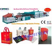 Quality High Quality Roll to Roll Non Woven Fabric Screen Printing Machine for sale