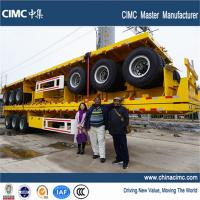 Quality 20ft 40 ft Tri-axle flatbed semi-trailer (12-lock ) for sale