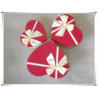 China Heart-type red Color Art Paper Box,Craft Gift Paper Box on sale