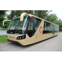 Comfortable Diesel Engine 13 Seater Airport Apron Bus With Aluminum Apron