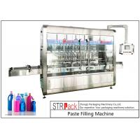 Quality PLC Control Automatic Paste Filling Machine For 250ML-5L Liquid Soap / Lotion / Shampoo for sale