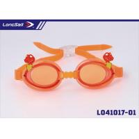Quality Custom Mouldproof Adjustable Anti Fog Swimming Goggles with PC Lens Cartoon Pattern Frame for sale