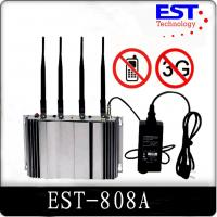 Quality 3G Cell Phone Signal Jammer Blocker EST-808A , 2100 - 2200MHZ Frequency for sale