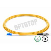 Quality LC - FC UPC Connector Fiber Optic Patch Cord 1F 3.0mm OFNR CORNING SMF - 28 ULTRA for sale