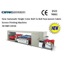 Quality Automatic Roll to Roll Non-Woven Fabric Screen Printing Machine for shopping bag for sale