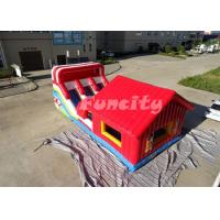 Buy 2 Years Warranty Inflatable Jumping Castle / Bouncy Castle 0.55 Mm Pvc Tarpaulin at wholesale prices