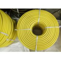 Quality Yellow EPDM 3/4 Jack Hammer Rubber Air Hose , Flexible Rubber Tubing With Claw Fittings for sale