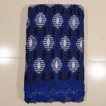 Quality Black Royal Blue Swiss Cotton Voile Lace , Home Textile for sale