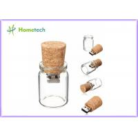Buy cheap Bottle Glass Wooden USB Flash Drive 2.0 For Wedding Giveaways 4GB 8GB from wholesalers
