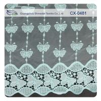China Butterfly Organza Embroidery Lace Fabric , Eco-friendly Dyeing / Normal Dyeing on sale