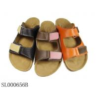 China Two Tone Leather Footbed Sandal(SL000656b) on sale