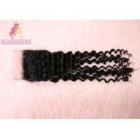 Quality 10A 4x4 Lace Closure , Virgin Brazilian 4x4 Malaysian Curly Hair Transparents Lace Closure for sale