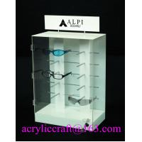Buy Countertop Acrylic Eyeglasses Display Stand , PMMA Glasses Display Box at wholesale prices