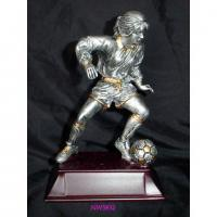 China resin sport football trophy,polyresin sport trophy,resin figurines,resin gift on sale