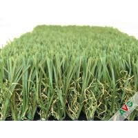 Quality Durable Four Tone 12400Dtex / 8f Hybrid Wave Outdoor Artificial Grass With W Circle And S Wing Blade for sale