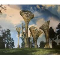 China Large Park Decorative Outdoor Metal Art Sculpture With Abstract Hollow Modern Design for sale