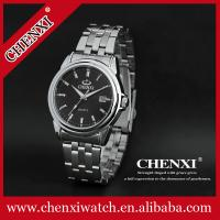 China C005A Day& Date Display Calenda Waterproof Wristwatches Man Stainless Steel Big Mens Watch on sale