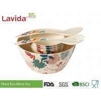 Buy cheap High Strength Bamboo Salad Bowl Set Heat Resistant Food Grade Printing Decal from wholesalers