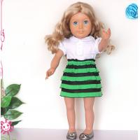 China Lovely mathing girl doll dress 18 inch American girl doll clothes on sale