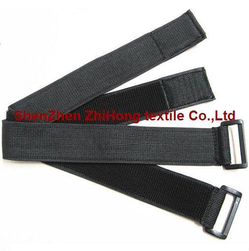 Elastic Un Brushed Velcro Hook And Loop Binding Straps
