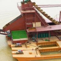 Quality River Dredger, Easily Operated for Sand and Gravel, Dredging Equipped with Cutter Head for sale