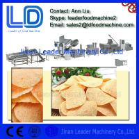 China Easy operation screw shell chips extruded pellet frying food process line on sale