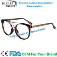 China Overstate Design Temple eyeglasses Frames and Natural Full sample Design Fashion Stainless Eyewear on sale