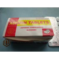Quality GMP Certified Best Quality  B.P. Aspirin 500mg tablet, 10*10/box,  treat pain, and reduce fever or inflammation for sale