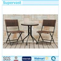Resin Wicker Folding Patio Furniture Set 3PC Outdoor