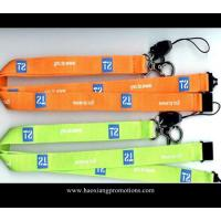 Buy cheap cheap custom 20*1000mm orange color  Logo Printed Lanyard with no minimum order from wholesalers