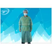 Quality Knitted Wrist PP PE Disposable Scrub Suits Isolation Gowns Water Resistant for sale