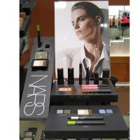 Quality Cosmetic Plexiglass Retail POS Displays Black For Lips / Eyes Cleans for sale