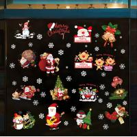 Buy Shop Christmas Window Stickers Kids Living Room Decoration Santa Claus Snowman at wholesale prices