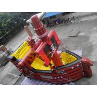 Quality CE / UI Blower Red Inflatable Bouncy Castles With Slides For Hire for sale