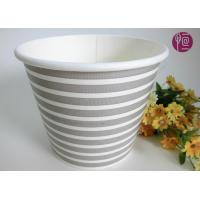Buy 38oz Flower Paper Pot Advertising LOGO Printed Cross Stripe at wholesale prices