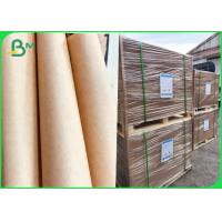 China 100% Extensible Virgin Brown Kraft Liner Paper For Cement Bags Making on sale