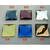 Quality different color clear small size beveled cut glass for decorative wall mirror for sale
