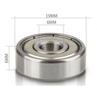 China High speed low noise chrome steel miniature ball bearing 626ZZ 6x19x6 miniature bearing