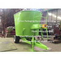 Quality Efficient Green Animal TMR Feed Mixer , small tmr mixer With Weighting System for sale